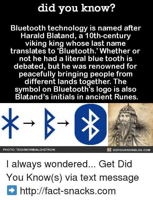 Did You Know Bluetooth Technology Is Named After Harald Blatand A