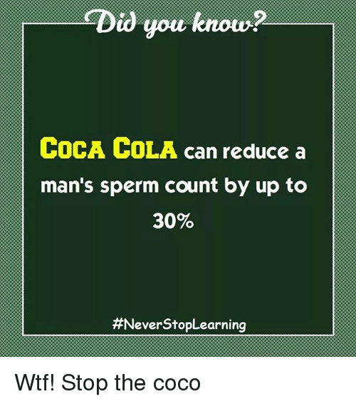 Sperm count and cocaine