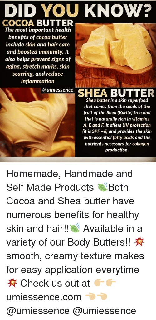 DID YOU KNOW? COCOA BUTTER the Most Important Health