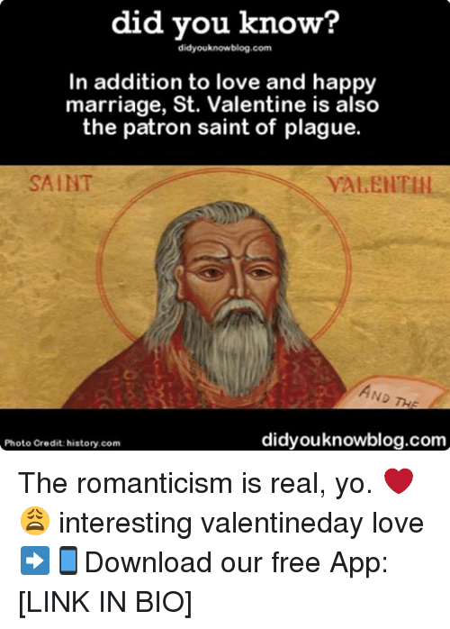 St valentine is the patron saint of