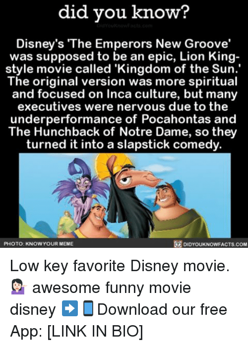 did you know disneys the emperors new groove was supposed 13180133 did you know? disney's the emperors new groove' was supposed to be