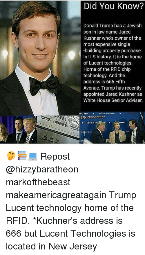 Did You Know? Donald Trump Has a Jewish Son in Law Name Jared