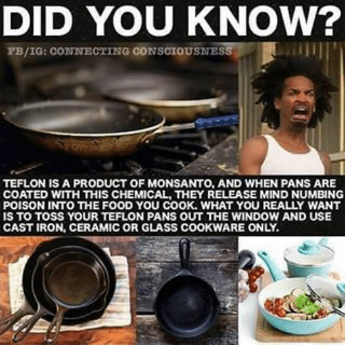 DID YOU KNOW? FBIG CONNECTING CONSCIOUSNES TEFLON IS a PRODUCT OF