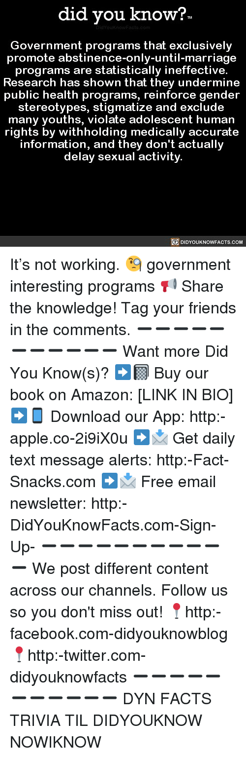 did you know government programs that exclusively promote