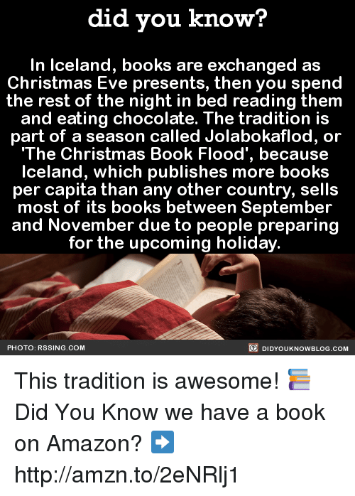 Did You Know In Iceland Books Are Exchanged As Christmas