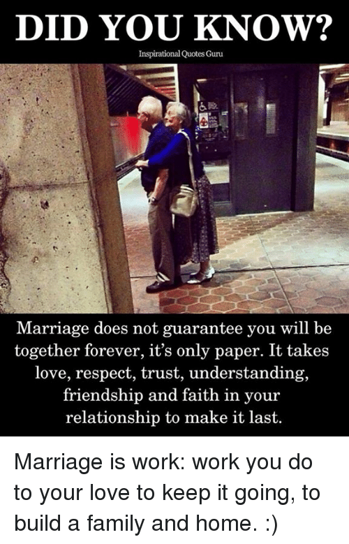 Did You Know Inspirational Quotes Guru Marriage Does Not Guarantee