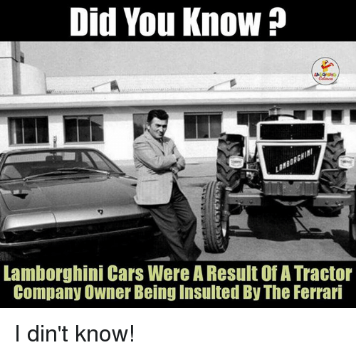 Did You Know Lamborghini Cars Were Aresult Of A Tractor Company