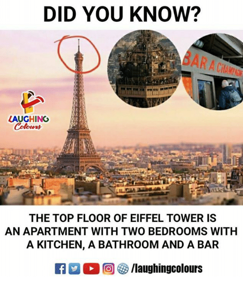 Eiffel Tower Indianpeoplefacebook And Top Did You Know Laughing The Floor