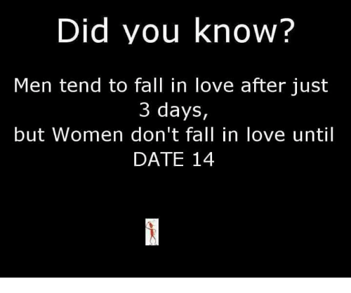Did You Know? Men Tend to Fall in Love After Just 3 Days but