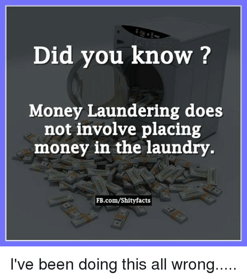 Image result for money laundering meme