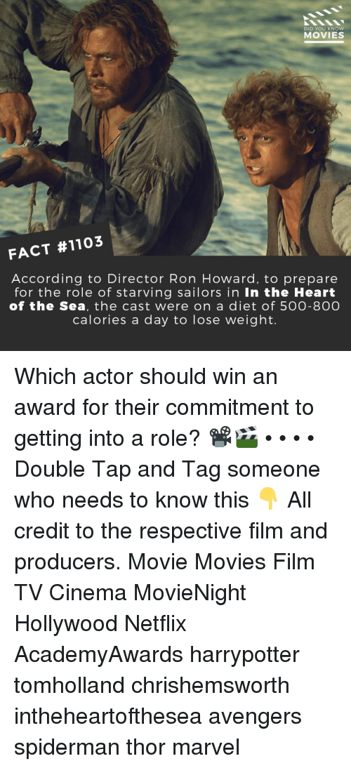 DID YOU KNOW MOVIES FACT #1103 According to Director Ron