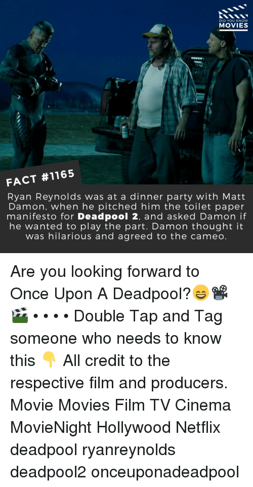 DID YOU KNOW MOVIES FACT #1165 Ryan Reynolds Was at a Dinner Party
