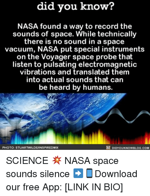 Did You Know? NASA Found a Way to Record the Sounds of Space While