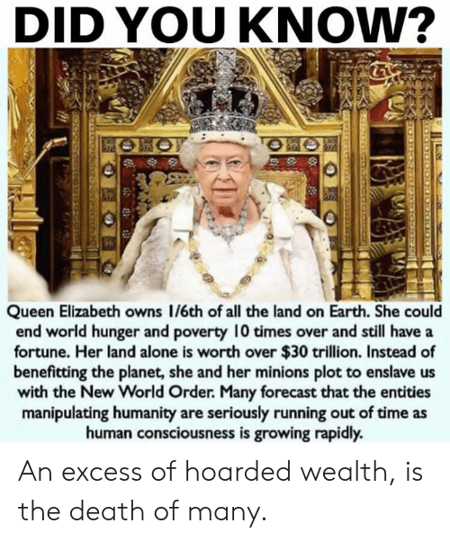 DID YOU KNow? Queen Elizabeth Owns 16th of All the Land on Earth She