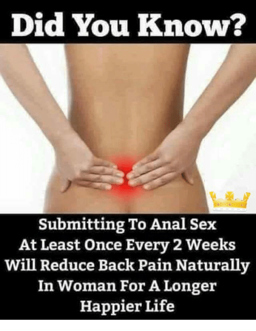 Sense. How to have less painful anal sex that interfere