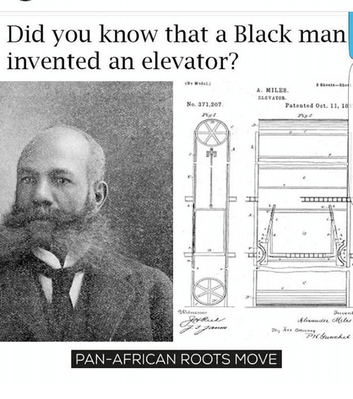 Memes 🤖 and roots did you know that a black man invented an