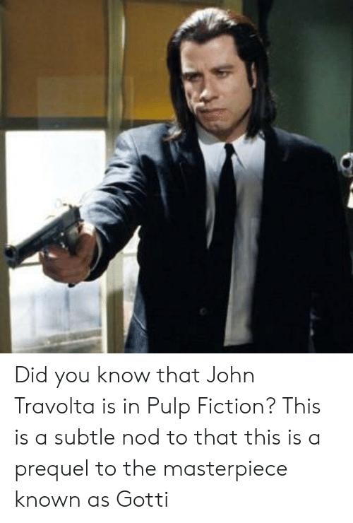 Did You Know That John Travolta Is in Pulp Fiction? This ...