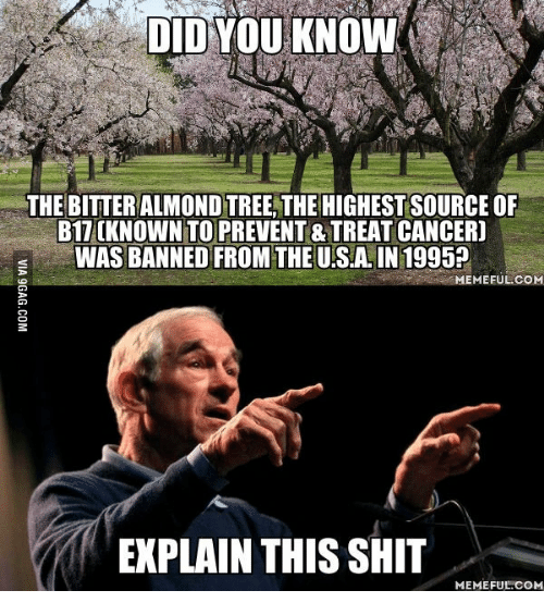 Bitter almond tree banned
