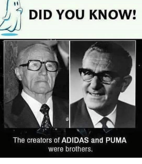DID YOU KNOW! The Creators of ADIDAS and PUMA Were Brothers  e45a9e771b0b