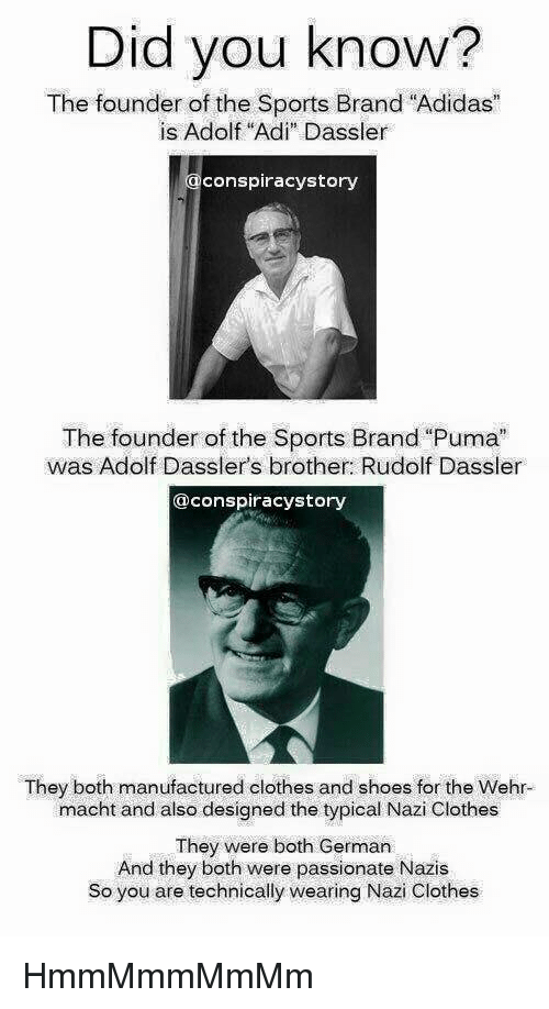 52f73fc57e64 Did You Know  The Founder of the Sports Brand Adidas Is Adolf Adi ...