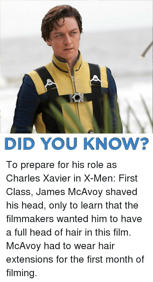 Did You Know To Prepare For His Role As Charles Xavier In X Men