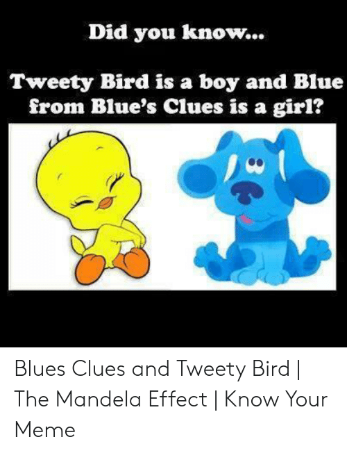 Did You Know Tweety Bird Is a Boy and Blue From Blue's Clues