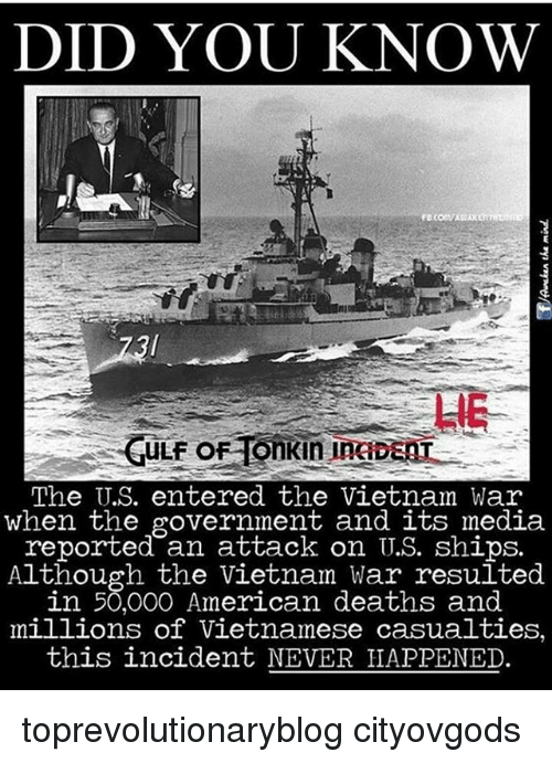 DID YOU KNOW ULFO the US Entered the Vietnam War When the Government