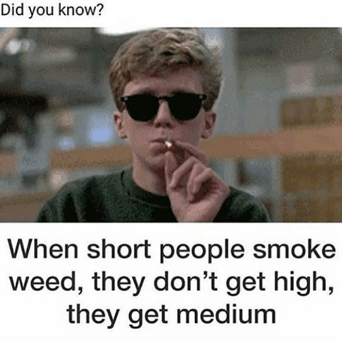 did you know when short people smoke weed they dont 19612288 did you know? when short people smoke weed they don't get high