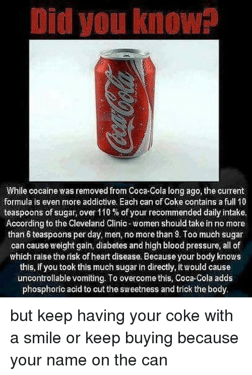 did you know while cocaine was removed from coca cola long 21133149 did you know while cocaine was removed from coca cola long ago the