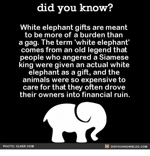 What Is Meant By White Elephant In The Room