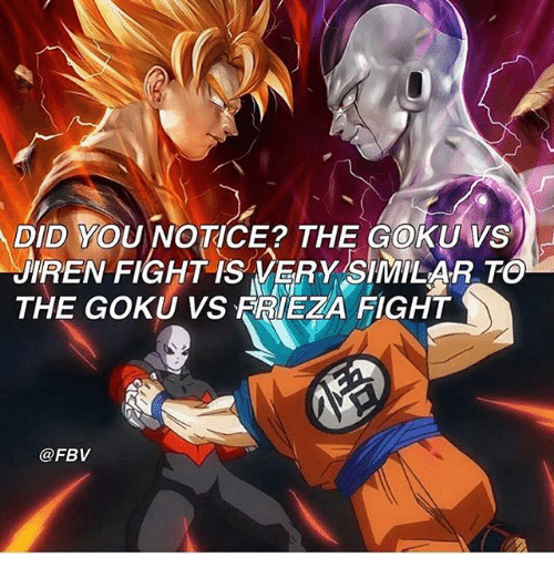 Did You Notice The Goku Vs Iren Fight Is Very Similarto The Goku Vs