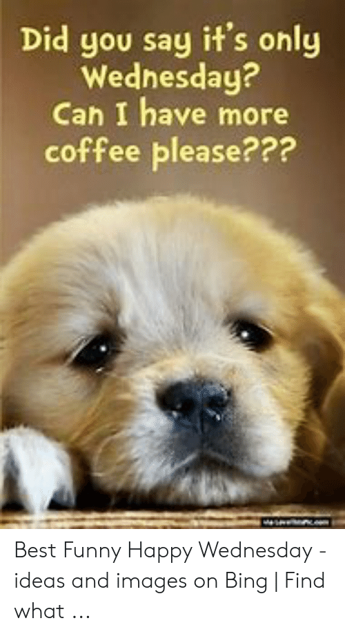 Did You Say It's Only Wednesday? Can I Have More Coffee ...