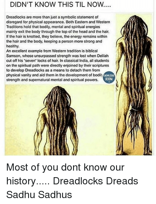 Didnt Know This Til Now Dreadlocks Are More Than Just A Symbolic