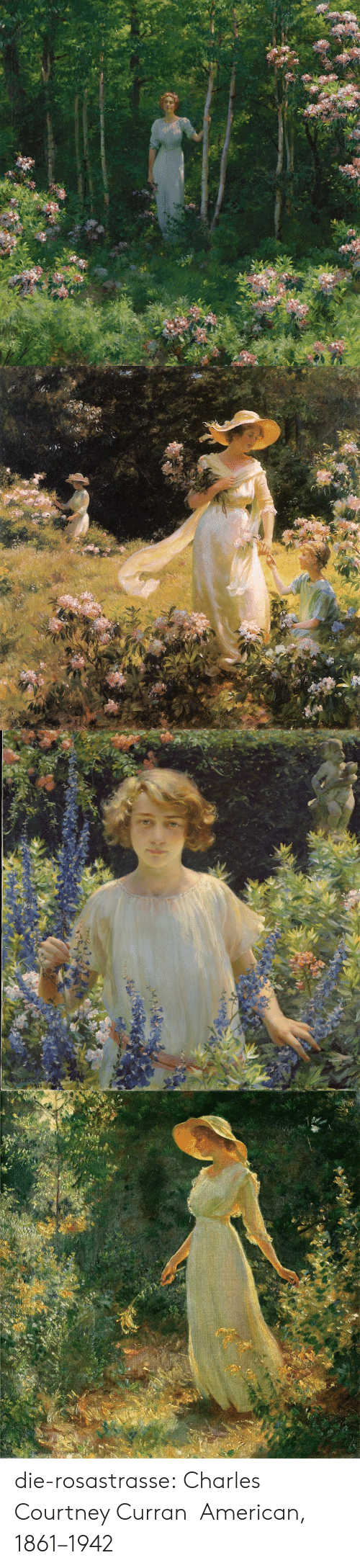 Tumblr, American, and Blog: die-rosastrasse:   Charles Courtney Curran American, 1861–1942