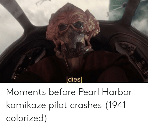 Pearl Harbor, Pearl, and Kamikaze: [dies] Moments before Pearl Harbor kamikaze pilot crashes (1941 colorized)