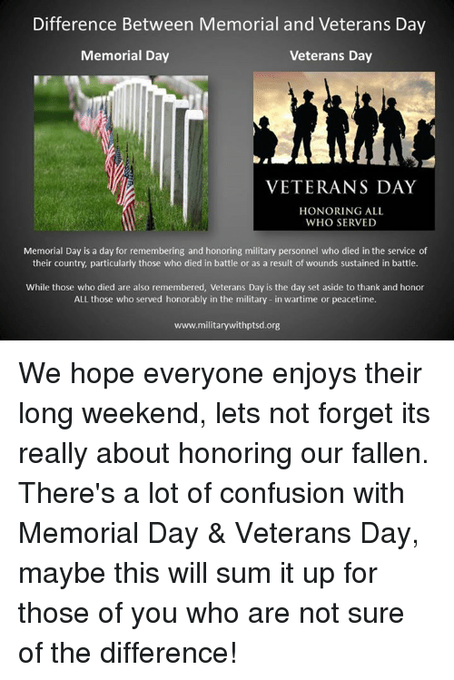 ebbe056f66 Confused, Memes, and Ups: Difference Between Memorial and Veterans Day  Memorial Day Veterans