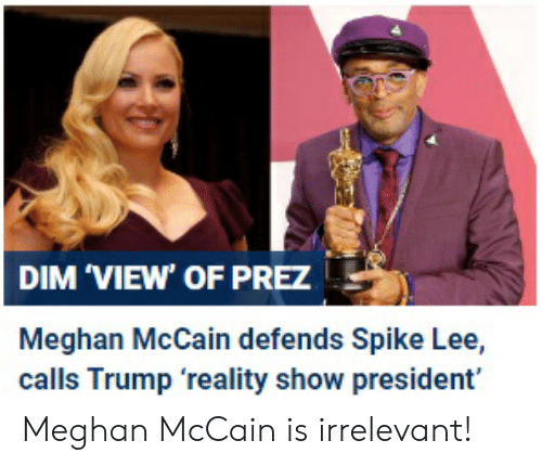 The View Meghan Mccain: 25+ Best Memes About Spike Lee