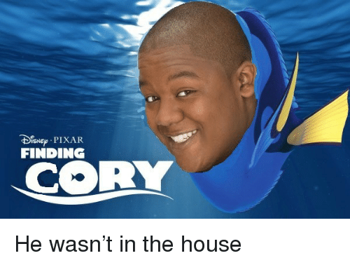 Pixar, House, and Dis: Dis ep . PIXAR  FINDING  CORY <p>He wasn&rsquo;t in the house</p>