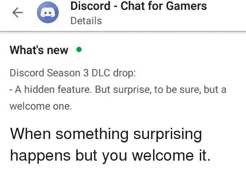 Discord Details Chat for Gamers What's New Discord Season 3 DLC Drop