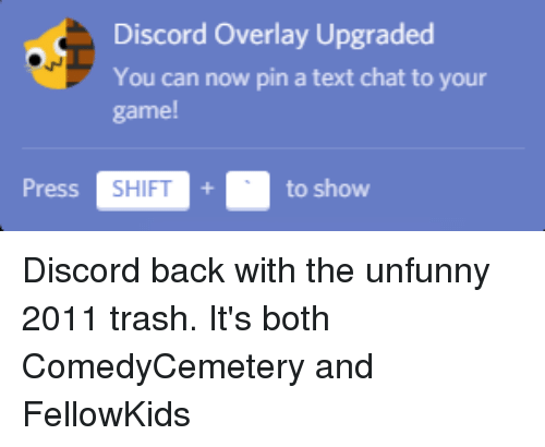 Discord Overlay Upgraded You Can Now Pin a Text Chat to Your