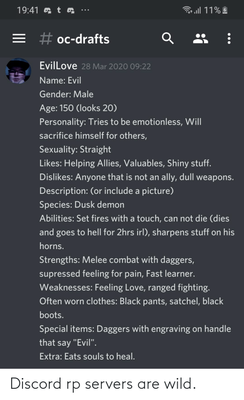 Wild, Neckbeard Things, and Discord: Discord rp servers are wild.