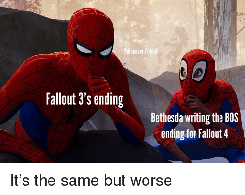 Fallout 3's Ending Bethesda Writing the BOS Ending for Fallout 4
