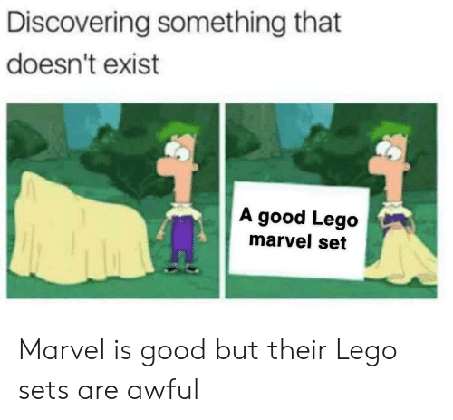 Lego, Good, and Marvel: Discovering something that  doesn't exist  A good Lego  marvel set Marvel is good but their Lego sets are awful