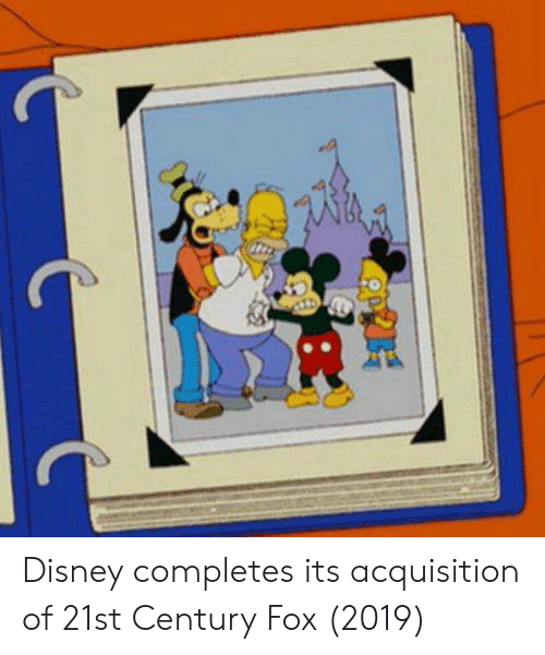Disney, Fox, and 21st Century: Disney completes its acquisition of 21st Century Fox (2019)