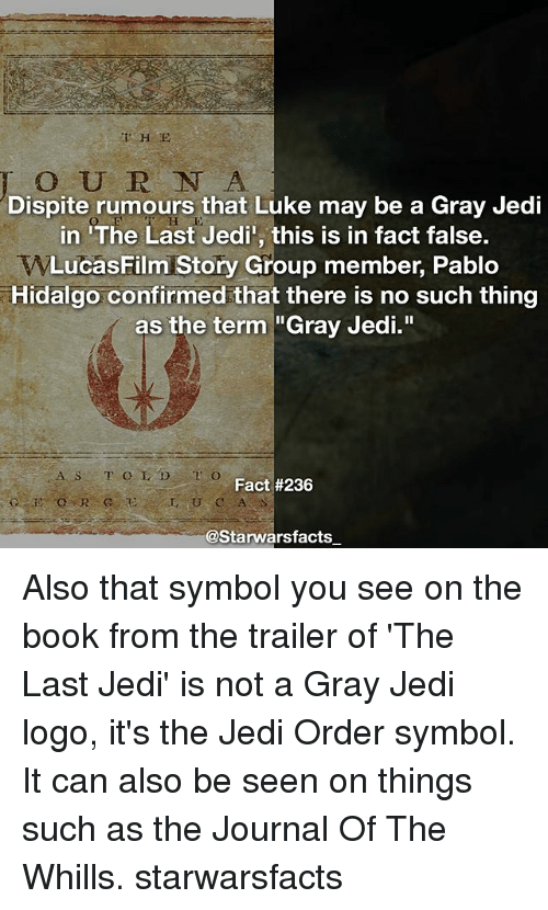 Dispite Rumours That Luke May Be A Gray Jedi In The Last Jedi This