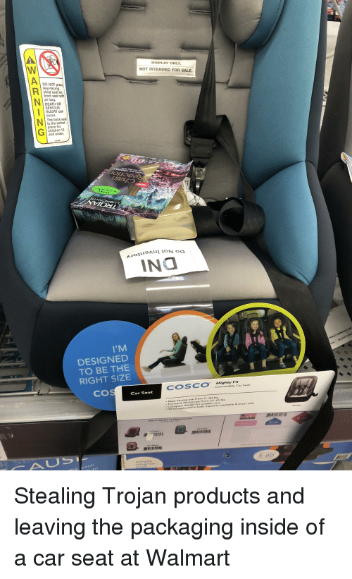 Display Only Not Intended For Sale O Not Place Rear Facing Child