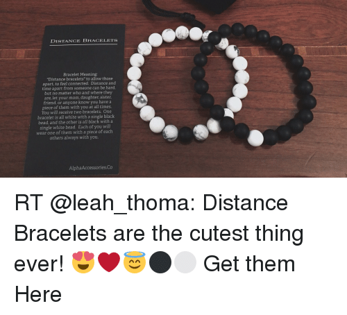 Memes Black And Connected Distance Bracelets Bracelet Meaning
