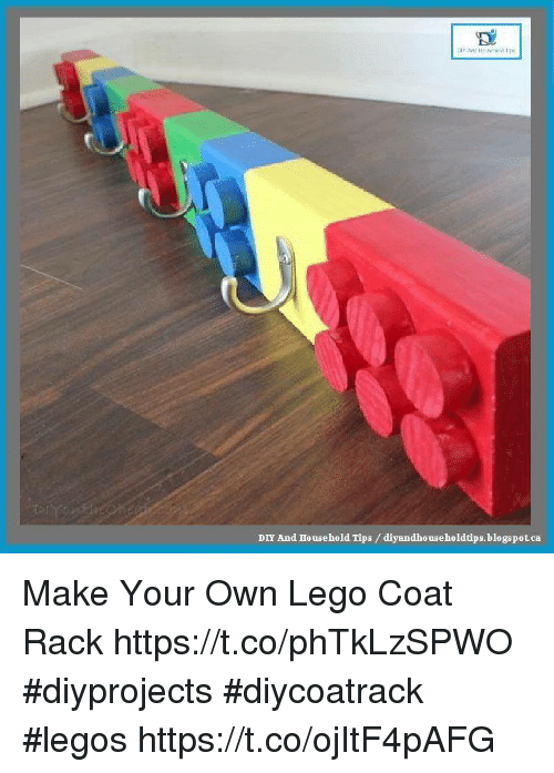 DIY And Household Tips Diyandho Useholdtipsblogspotca Make Your Own Best Lego Coat Rack
