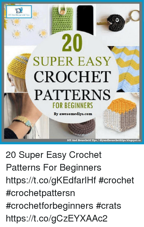 Diy And Household Tips Super Easy Crochet Patterns For Beginners By