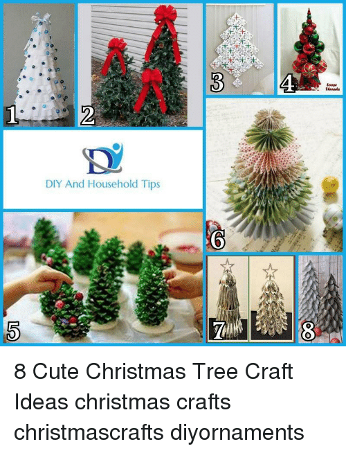 Diy And Household Tips Tareads 8 Cute Christmas Tree Craft Ideas